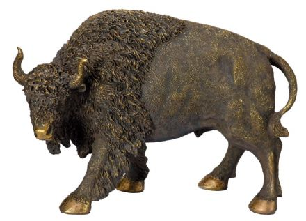 Bronzed Billy Bison American Buffalo Cattle Large Ornament